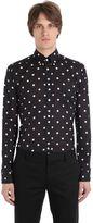 Eton Slim Fit Polka Dot Cotton Muslin Shirt
