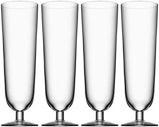 Orrefors Set of 4 Pils Glasses