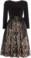 Eliza J Fit & flare dress with jersey top and lace skirt
