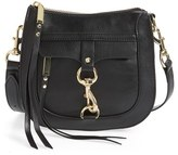 Rebecca Minkoff 'Dog Clip' Saddle Bag - Black
