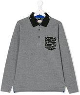 Armani Junior teen long-sleeved polo shirt - kids - Cotton - 14 yrs
