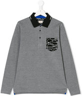 Armani Junior teen long-sleeved polo shirt