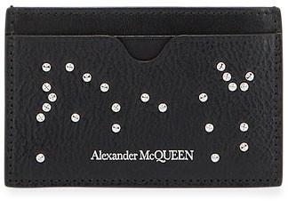 Alexander McQueen Men's Core Logo Studded Leather Card Case