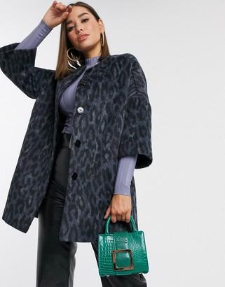 Helene Berman cocoon coat in faux fur