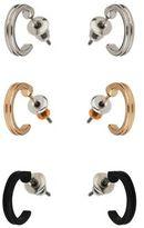Burton Mens 3 Pack Mixed Metal Hoop Earrings