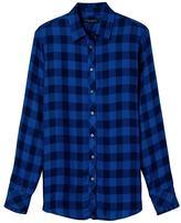 Banana Republic Dillon-Fit Plaid Ruffle-Cuff Flannel Shirt