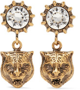 Gucci Gold-tone Crystal Earrings - one size