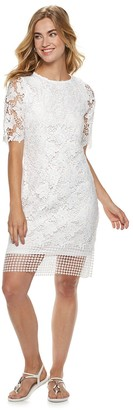 Nina Leonard Women's Lace Sheath Dress
