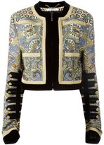 Givenchy printed cropped jacket - women - Silk/Viscose/Wool - 36