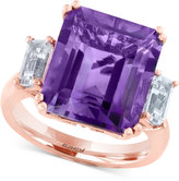 Effy Amethyst (6-5/8 ct. t.w.) and White Topaz (1 ct. t.w.) Ring in 14k Rose Gold