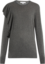 Elizabeth and James Orly ruffled-trim sweater
