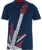 Ben Sherman Boys navy guitar print T-shirt