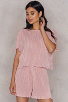 Pleated Top & Shorts Set