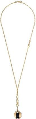Annoushka 18kt yellow gold Mythology ebony conker seed diamond pendant necklace