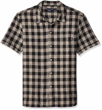 French Connection Men's Short Sleeve Slim Fit Button Down Shirt