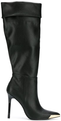 Versace pointed knee-length boots