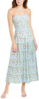 AMUR Hiyori Linen-Blend Maxi Dress