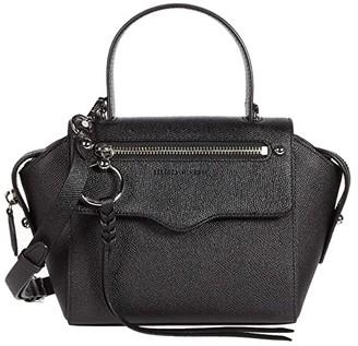 Rebecca Minkoff Gabby Small Satchel (Black) Handbags