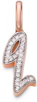 Monica Vinader Diamond Q Alphabet Pendant