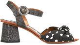 Dolce & Gabbana polka dot sandals - women - Raffia/Leather/Viscose - 36
