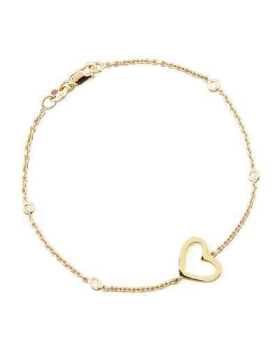 Roberto Coin Yellow Gold Heart Diamond Bracelet