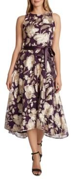 Tahari ASL Lace High-Low Midi Dress