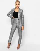 Fashion Union Suit Pants In Tile Print Co-Ord