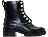 3.1 Phillip Lim Black Lug Pearl Zipper Boots
