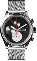 Raidillon Casual Friday Men's Automatic Watch with Black Dial Chronograph Display and Silver Stainless Steel Bracelet 42-C10-128-MB