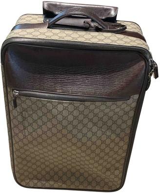Gucci Beige Cloth Travel bags