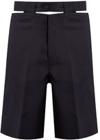 Marni Cut-out Belt Twill Shorts