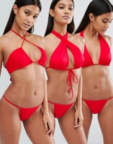 Hot as Hell Hot As Hell Red Multiway Bikini Top