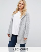 Asos Fabric Interest Cocoon Coat