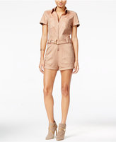 GUESS Anja Faux-Suede Military Romper