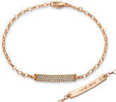 Monica Rich Kosann Petite Poesy Diamond ID Bracelet in 18K Rose Gold