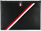 Thom Browne diagonal stripe document holder
