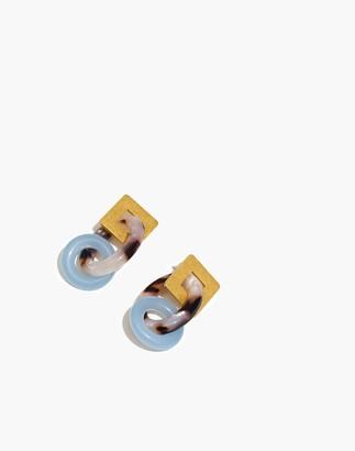Madewell Geo-Chain Statement Earrings
