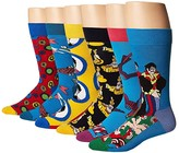Happy Socks Beatles 50th Anniversary LP Collector's Box 6-Pack (Blue Combo) Men's Crew Cut Socks Shoes