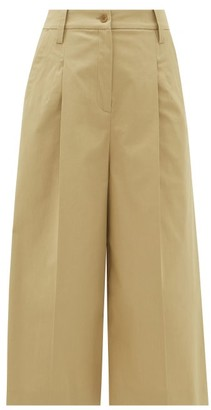 Etro Alyssa Cropped Stretch-cotton Culottes - Beige