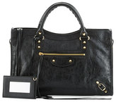Balenciaga Classic City Golden Lambskin Tote Bag, Black