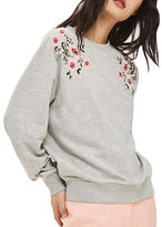 Topshop PETITE Embroidered Sweatshirt