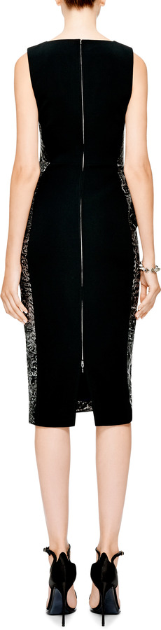 Antonio Berardi Zipper-Detail Jacquard Dress