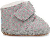 Toms Grey Jersey Polka Dot Tiny Cuna Crib Shoes