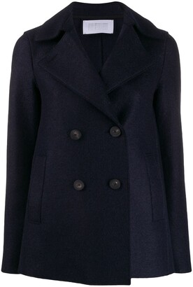 Harris Wharf London Double Breasted Pea Coat