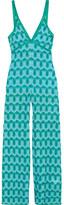 Missoni Metallic Crochet-knit Jumpsuit - Blue