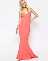 Jarlo Deep Plunge Bandeau Maxi Dress