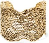Aurelie Bidermann Lace Gold-plated Cuff - one size