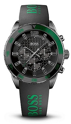 HUGO BOSS HB2033 Chronograph Silicon Logo Strap Watch - Assorted Pre-Pack