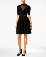 Rachel Roy Illusion Panel Fit & Flare Dress