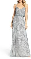 Adrianna Papell Women's Beaded Chiffon Blouson Gown